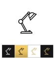 Table lamp sign or desk office lamps icon vector image vector image