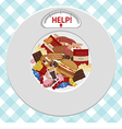 Unhealthy Foods concept vector image
