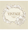 vintage background with peony and butterfly vector image