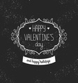 Vintage love card Happy valentines day vector image vector image