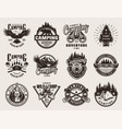 vintage outdoor adventure emblems vector image vector image