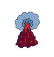 volcano cartoon symbol vector image