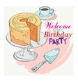 Welcome to the party for my birthday vector image
