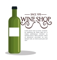 wine shop template isolated icon design vector image vector image