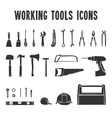 Working tool box icons set vector image