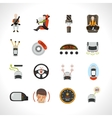 Car Safety System Icons vector image
