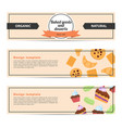 template design horizontal flyer for baked goods vector image
