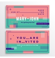 Wedding Invitation Card Template Modern Abstract vector image