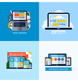 Modern flat concepts of responsive web design vector image