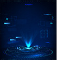 3d abstract hologram with hud interface vector image vector image