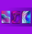 a4 abstract color 3d paper art set vector image vector image