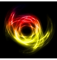 Abstract lights lines twist background vector image