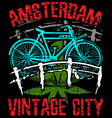 amsterdam poster graphic design vector image