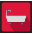 Bathtub icon in flat style vector image vector image