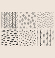 brush seamless pattern vector image vector image