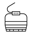 cable car cabin icon outline style vector image vector image