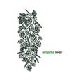 card organic beer art craft bio symbol vector image