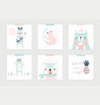 christmas set with cute bears celebrating vector image vector image