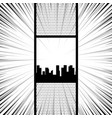 comic book pop art monochrome mock up vector image vector image