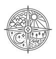 compass in line art vector image vector image