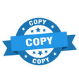 copy ribbon copy round blue sign copy vector image vector image