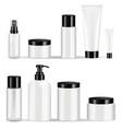 cosmetic bottles packaging set vector image vector image