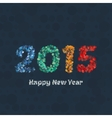 Creative colorful circle pattern happy new year vector image