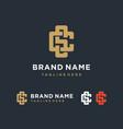 creative elegant letter cs monogram logo design vector image vector image