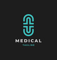 cross symbol medical logo vector image