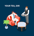 domestic servant isometric composition vector image vector image