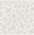 easter elements seamless flower pattern background vector image