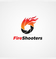 Fire shutter logo symbol