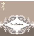 Floral ornament Invitation card vector image vector image