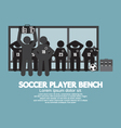 Football Or Soccer Player Bench Black Symbol vector image vector image