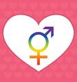 gender symbols linear black blue and pink colour vector image vector image