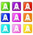 ghost icons 9 set vector image vector image