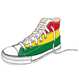 hand draw modern sport shoes with Bolivia flag vector image