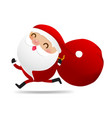 happy christmas character santa claus cartoon 005 vector image vector image