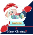 Happy New Year background with Santa Claus vector image vector image