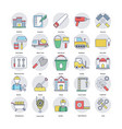 home services flat icons set vector image vector image