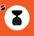 icon mechanical scales vector image vector image