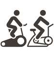 indoor cycling icons vector image