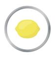 Lemon icon cartoon Singe fruit icon vector image vector image