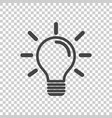 light bulb icon in isolated background idea flat vector image vector image