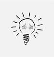 lightbulb eyes icon vector image