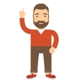 Man with his hand raised pointing at the top vector image vector image