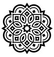 mandala decorative design inspired art vector image