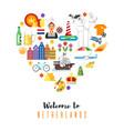 netherlands national cultural symbols vector image vector image