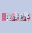 office business workspace manager interviewing vector image vector image