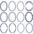 oval borders vector image vector image